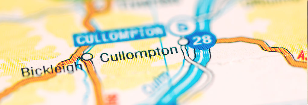 Cullompton Map Image